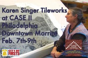 Karen Singer Tileworks to exhibiton Philadelphia CASE II